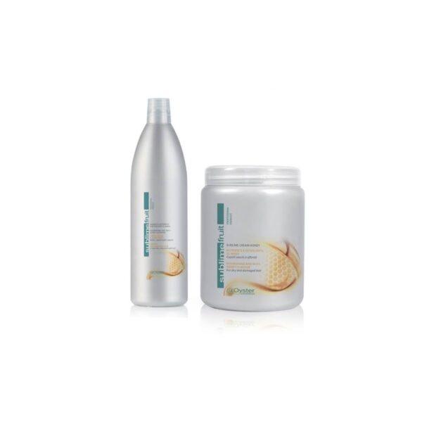 COMBO Dầu gội và Kem hấp Oyster Sublime Fruit tinh chất Dừa dưỡng màu cho tóc nhuộm 1000ml