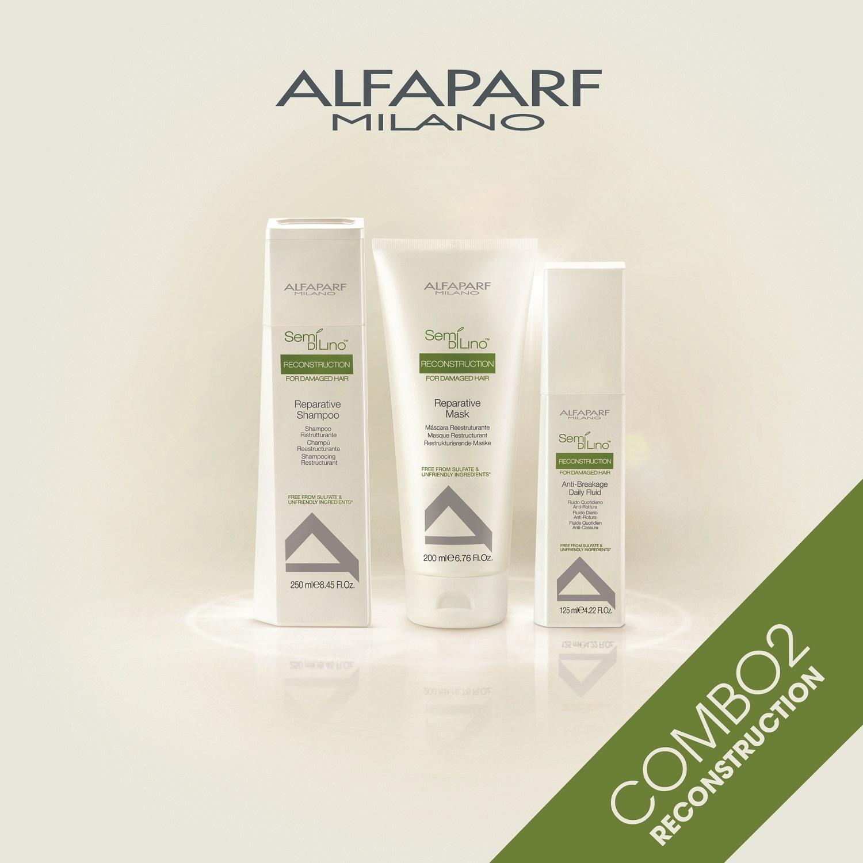 Combo phục hồi tóc hư tổn Alfaparf Reconstruction