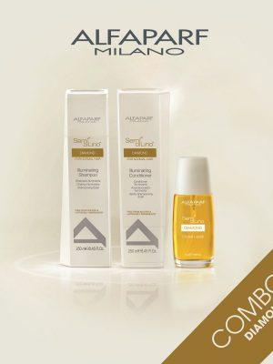 Combo Chăm sóc tóc bóng mượt Alfaparf Milano Diamond