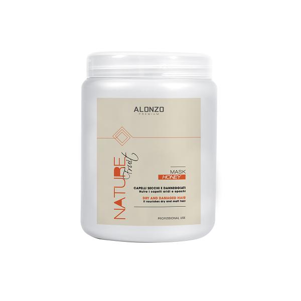 Kem hấp phục hồi Alonzo Nature với tinh chất mật ong dành cho tóc khô & hư tổn 1000ml