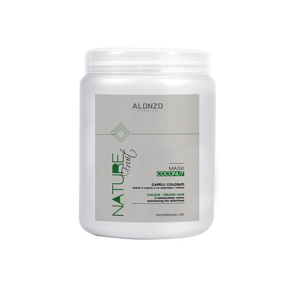 Kem hấp Alonzo Nature dưỡng chất với tinh dầu dừa dành cho tóc nhuộm 1000ml