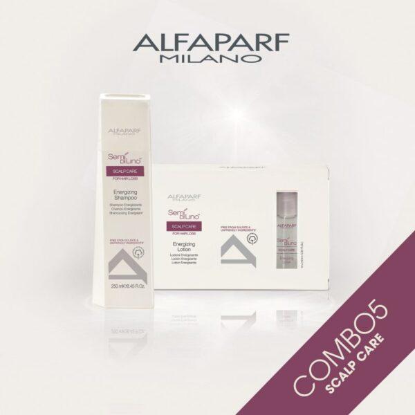 Combo Dầu gội và Tinh chất chống rụng tóc Alfaparf Scalp Care