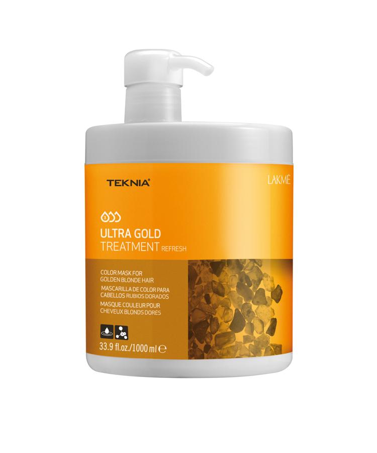 Kem hấp Teknia dưỡng màu cho tóc nhuộm màu vàng 1000ml