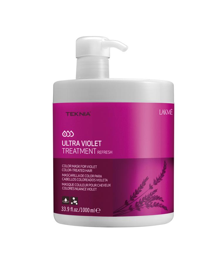 Kem hấp Teknia dưỡng màu cho tóc nhuộm màu tím 1000ml