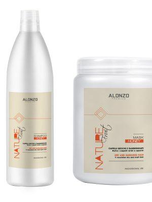 Combo Dầu gội Alonzo Nature tinh chất mật ong 1000ml và Kem hấp 1000ml