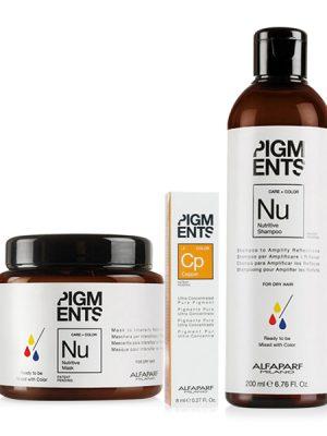 Combo dưỡng màu cho tóc nhuộm đồng và tóc khô Alfaparf Pigments Nutritive Copper
